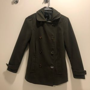 Army Green button up coat